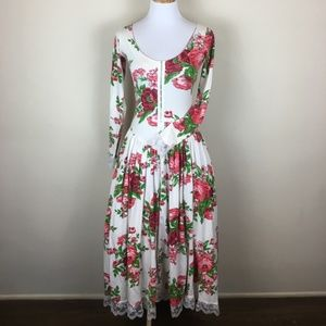 Vintage Betsey Johnson Archives Cabbage Rose Dress